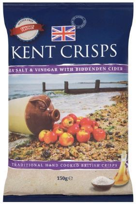 Kent Crisps - Sea salt & vinegar with Biddenden cider